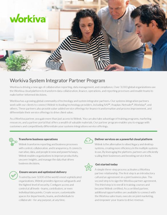 System Integrator Partner Program Overview