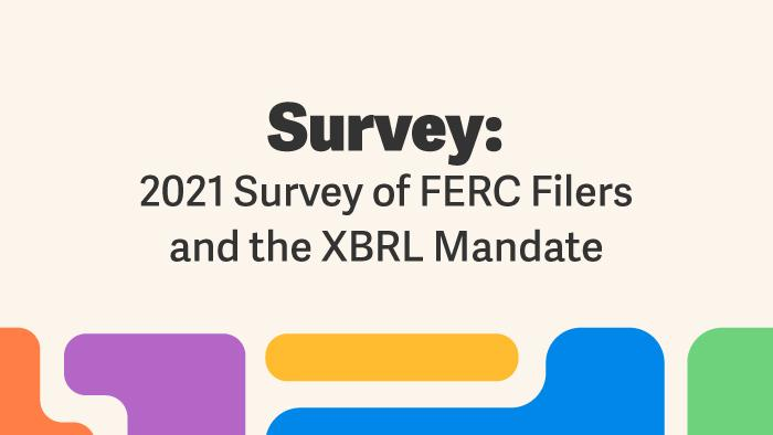 2021 Survey of FERC Filers and the XBRL Mandate