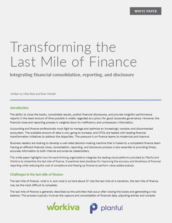 planful transforming the last mile of finance whitepaper