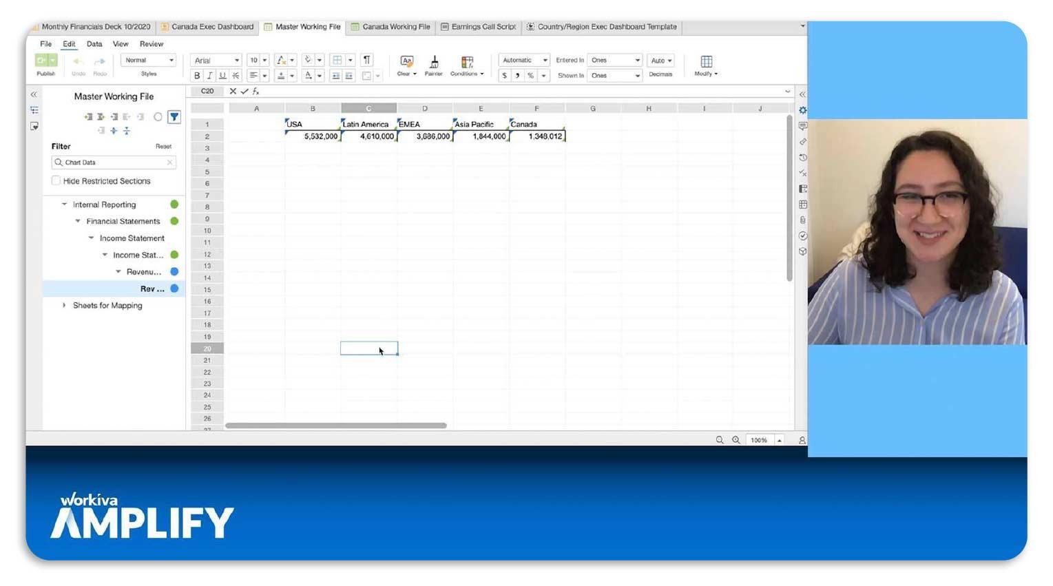 Workiva spreadsheet example