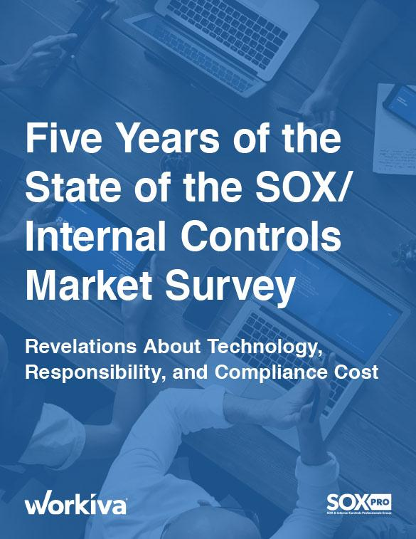 Five Years of the State of the SOX/Internal Controls Market Survey
