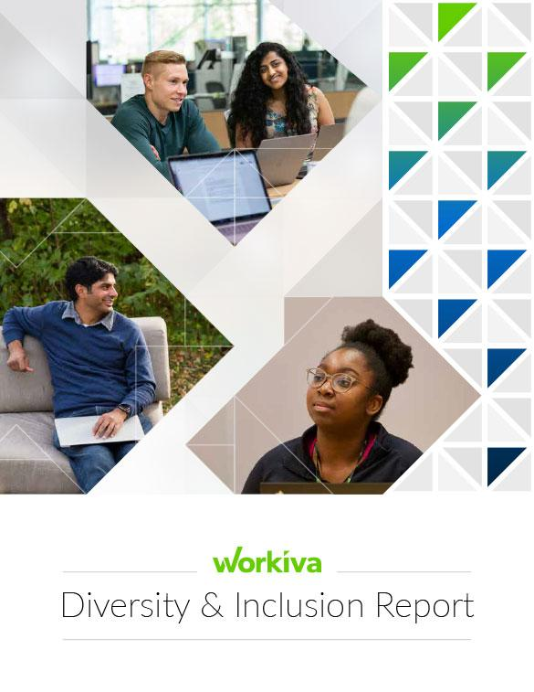 workiva diversity and inclusion report cover