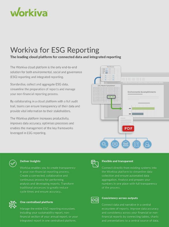 ESG Reporting Datasheet
