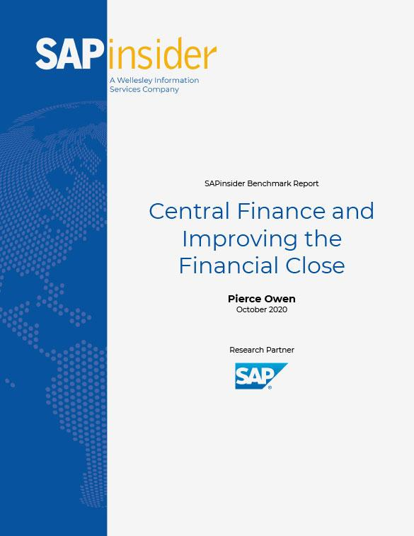 SAPinsider Central Finance and Improving the Financial Close