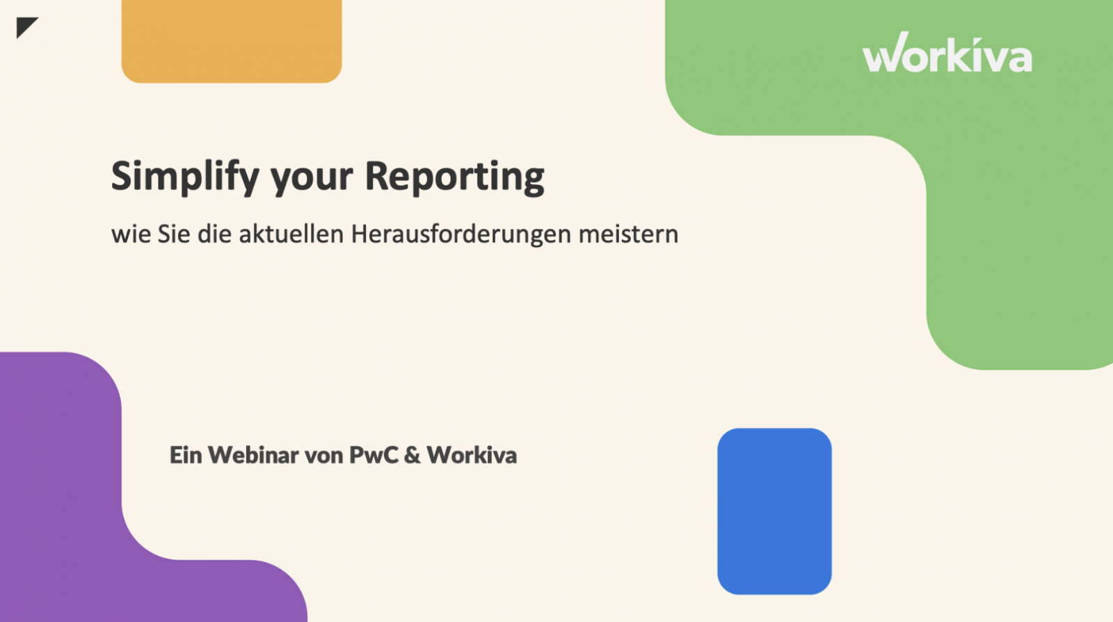 Simplify your Reporting