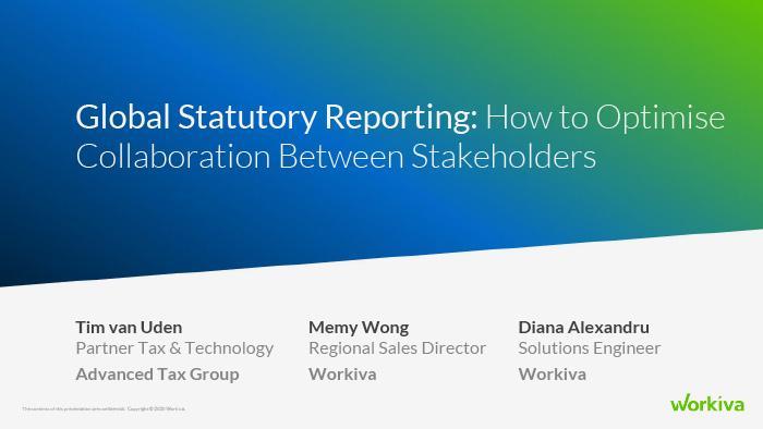 Global Statutory Reporting webinar title slide