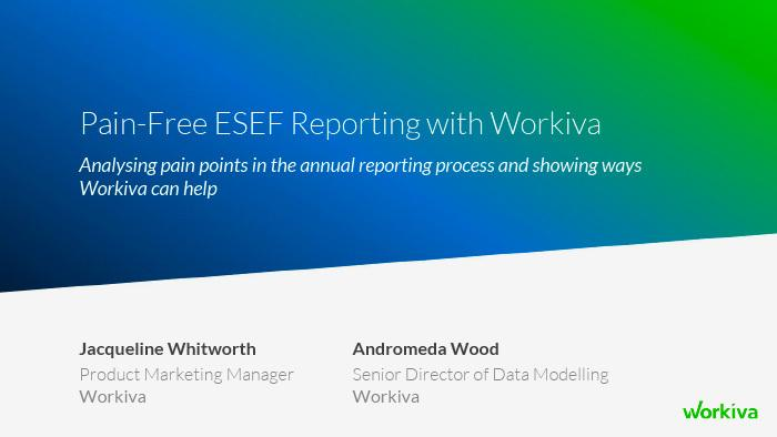 ESEF reporting webinar
