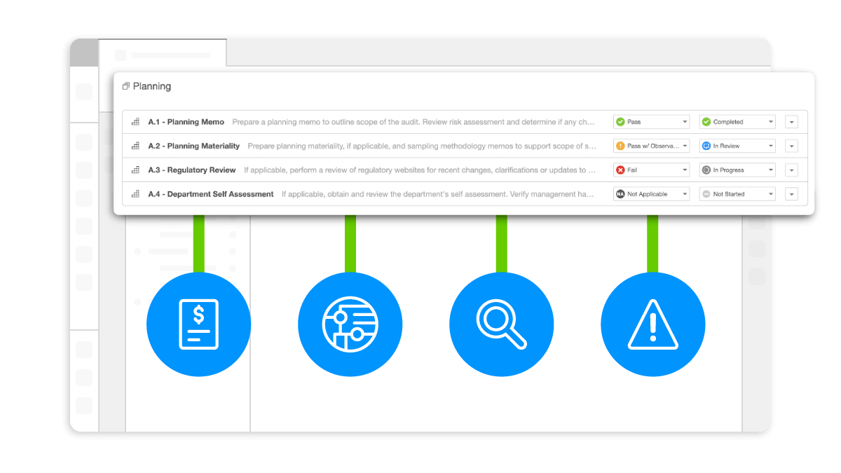 audit planning in the workiva platform