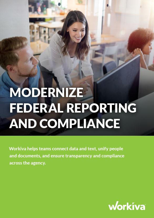 Workiva for Federal Government Brochure