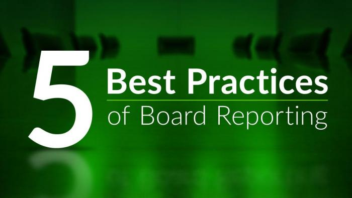 5 best practices of boarding reporting