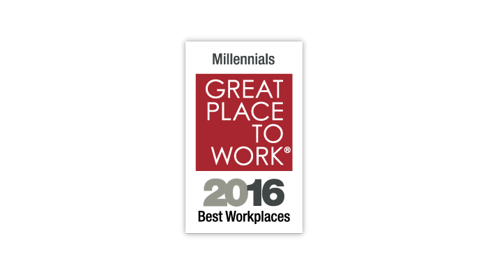 2016 Great Place to Work Millennials Award