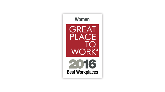 2016 Great Place to Work 100 Best Workplaces for Women