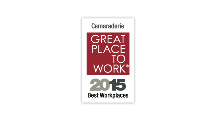 2015 Great Place to Work 50 Best Workplaces for Camaraderie