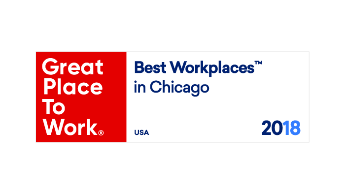 2018 Great Places to Work Best Workplaces in Chicago
