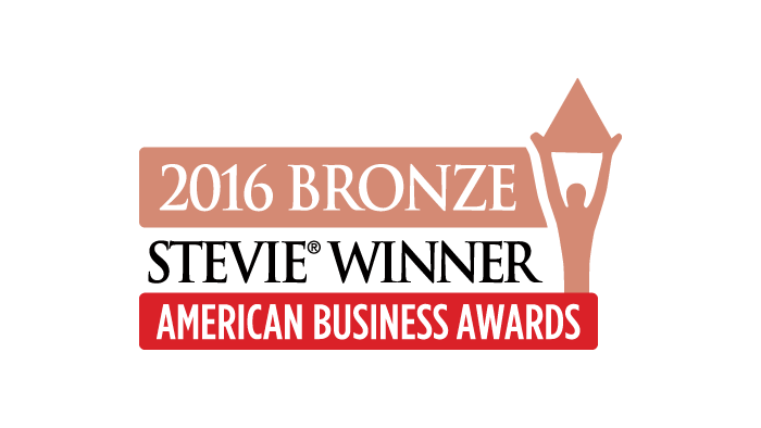 2016 Bronze Stevie Award - Most Innovative Company of the Year