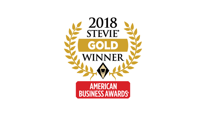 2018 Gold Stevie Award Most Innovative Company of the Year