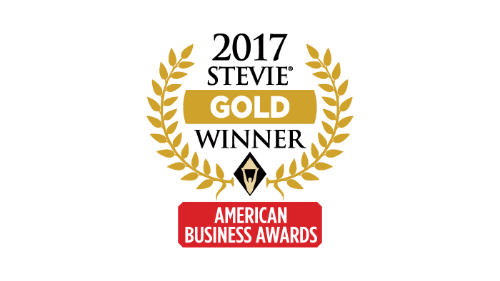 2017 Gold Stevie Award Most Innovative Company of the Year