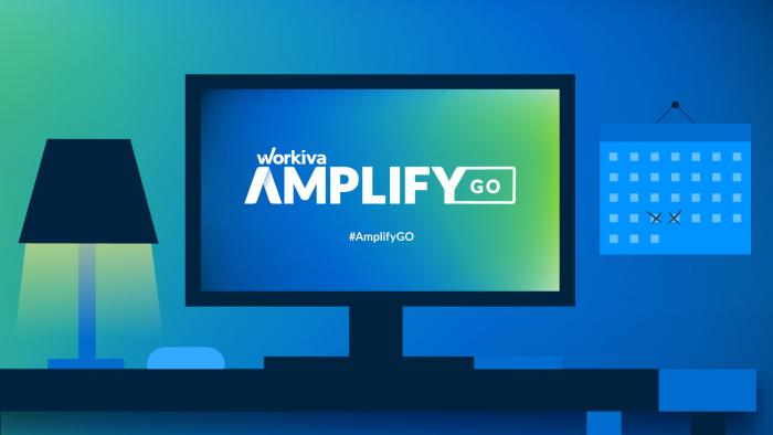 a computer with the amplify go webinar playing