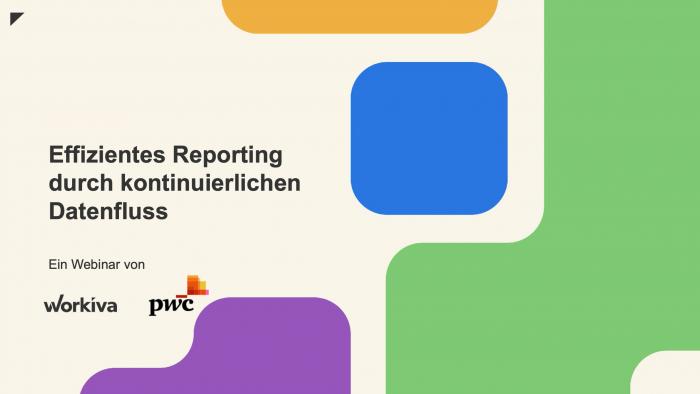 Effizientes Reporting durch kontinuierlichen Datenfluss