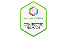 workiva employee resource group connected nomads logo