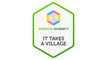 workiva employee resource group it takes a village logo