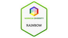 workiva employee resource group rainbow logo