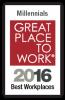 Great Place to Work Millennials award